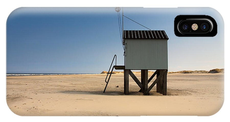 Beach IPhone X Case featuring the photograph Cabin With A View. by Jan Brons