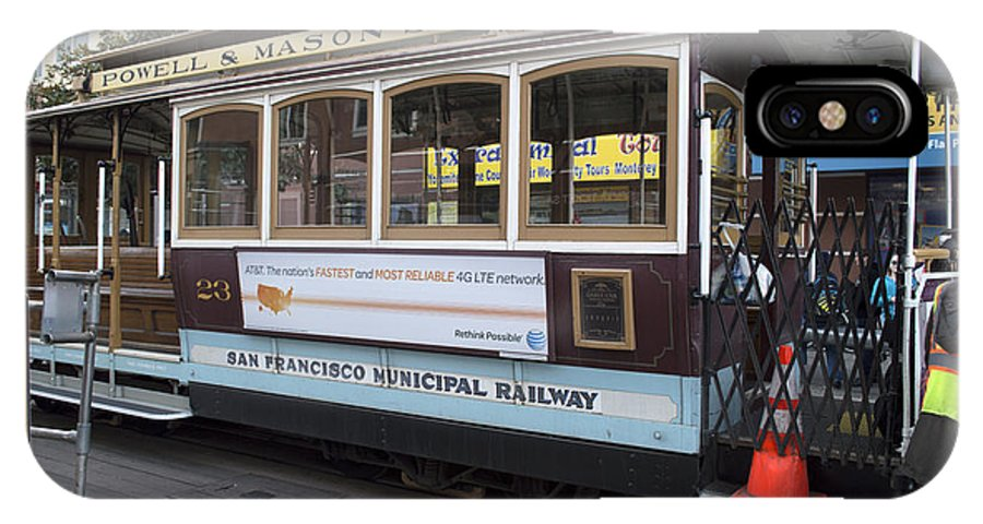 Photograph IPhone X Case featuring the photograph Cable Car Turn-around At Fisherman's Wharf by Christopher Winkler
