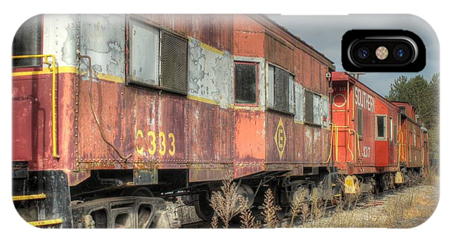 Cabooses IPhone X Case featuring the photograph Cabooses I by Lisa Hurylovich