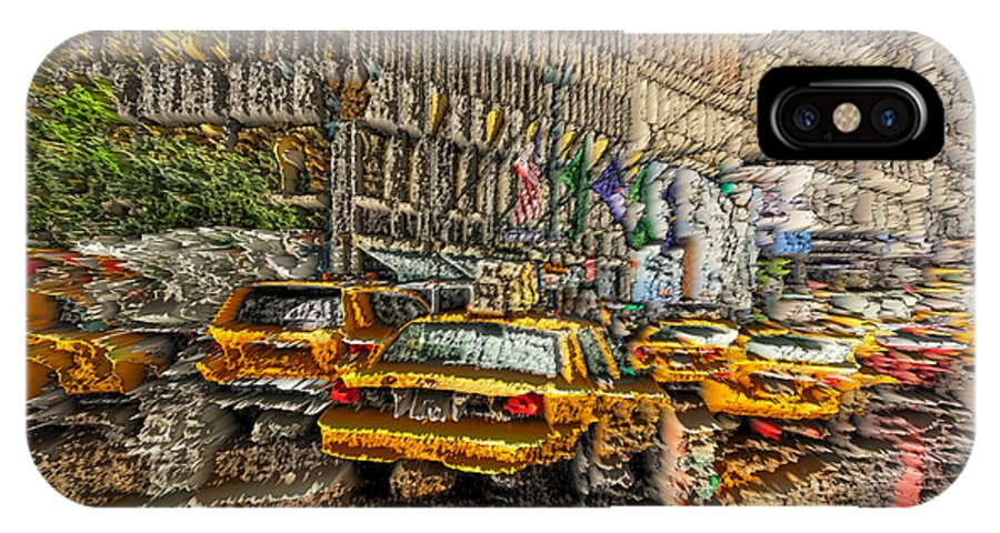 New York IPhone X Case featuring the photograph Cabs In The Canyons by David Bearden