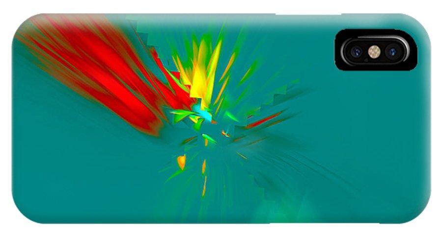 Fractal IPhone X Case featuring the digital art Cactus Flower by Victoria Harrington