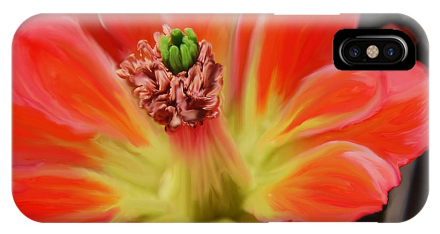 Cactus IPhone X Case featuring the photograph Cactus Flower by Victoria Page