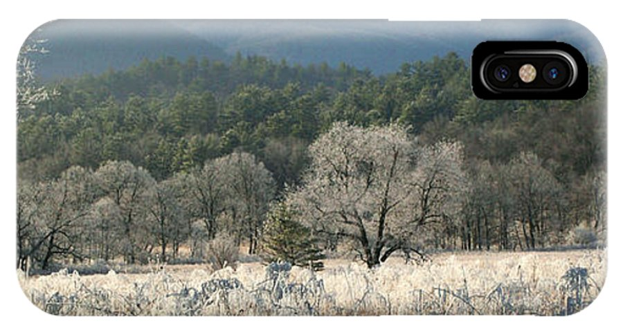 Cades IPhone X Case featuring the photograph Cades Cove Panorama by Douglas Stucky
