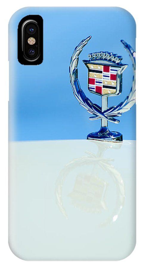 Cadillac Hood Ornament IPhone X Case featuring the photograph Cadillac Hood Ornament 4 by Jill Reger