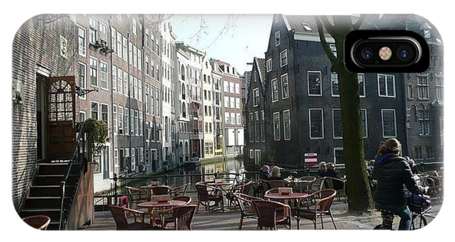 Amsterdam IPhone X Case featuring the photograph Cafe Amsterdam by J Shawn Conrey