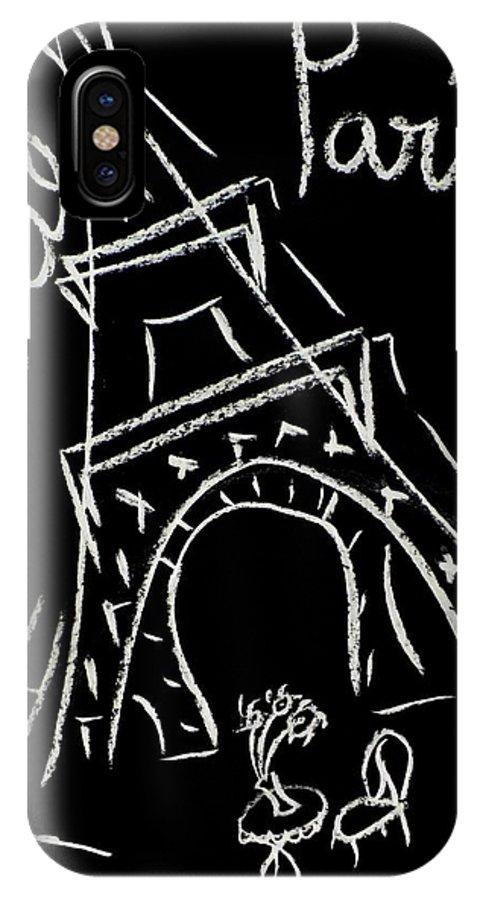 Tour Eiffel Artwork IPhone Case featuring the digital art Cafe De Paris by Corinne de la garrigue
