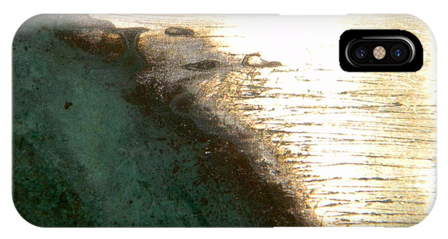 Ocean IPhone X Case featuring the mixed media California Coast by James Kalteren