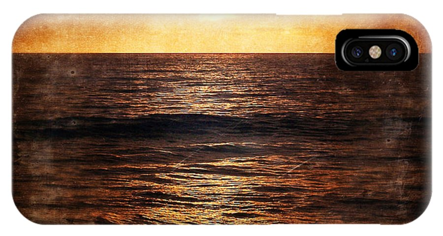 California IPhone X Case featuring the photograph California Grunge Sunset by Phil Perkins