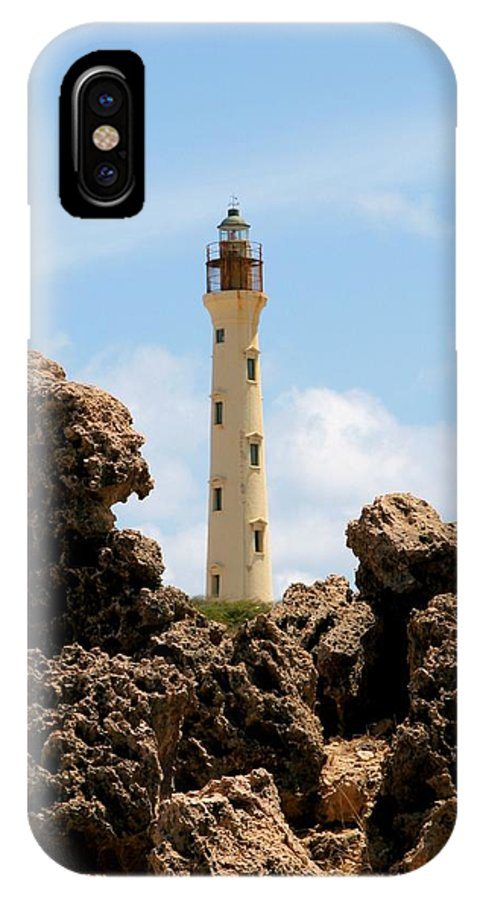 Aruba IPhone X Case featuring the photograph California Lighthouse Aruba by DJ Florek