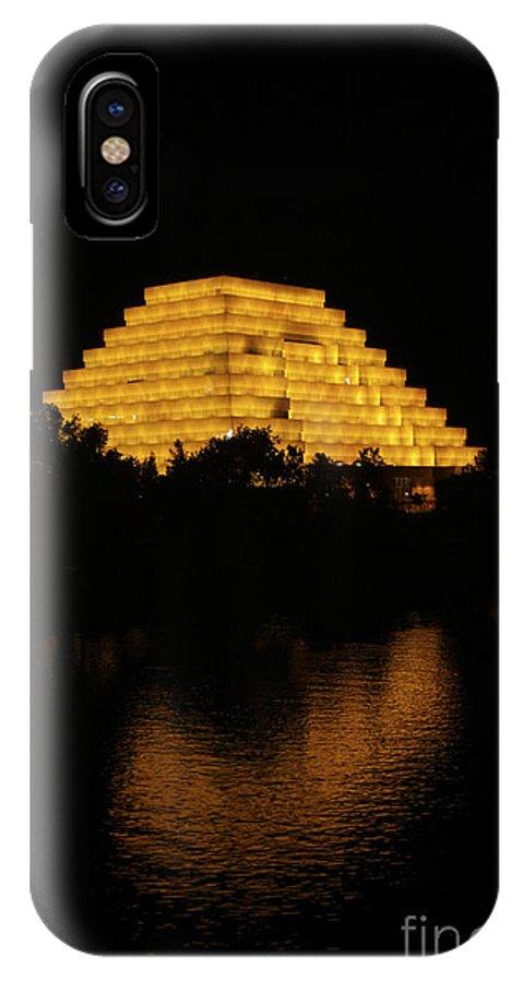 Sacramento River IPhone X / XS Case featuring the photograph California Pyramid by Yousif Hadaya