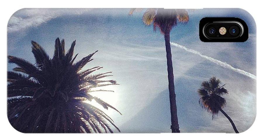 Palm Trees IPhone X / XS Case featuring the photograph California Sky by Skylar Fordahl