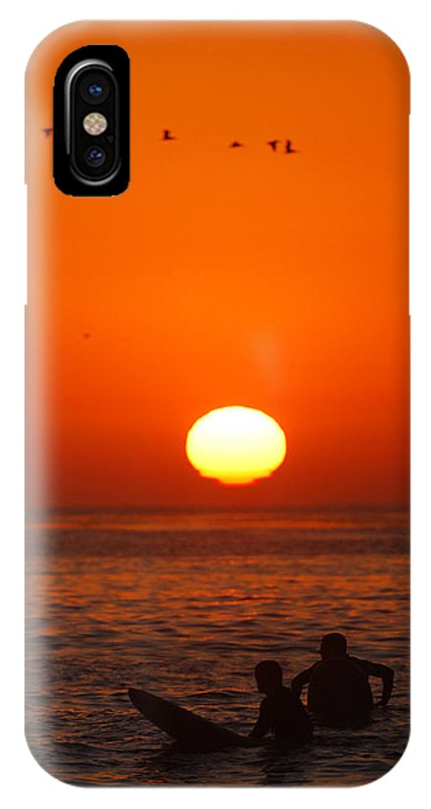 IPhone X Case featuring the photograph California Summer Sunset by Victor Villodre