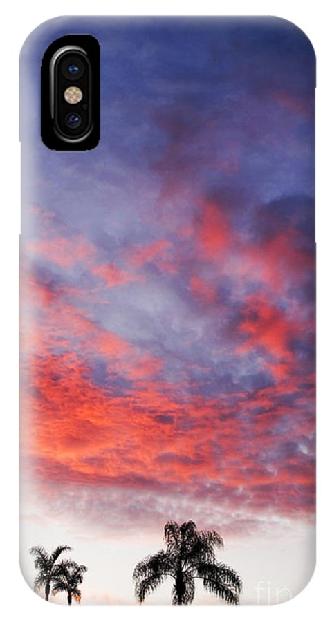 Landscape IPhone X Case featuring the photograph California Sunset by Gabriele Pomykaj