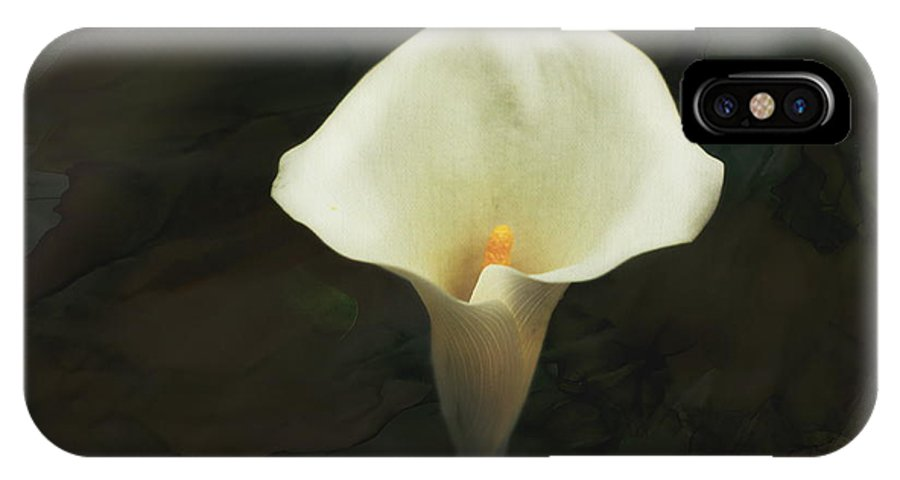 Calla Lily IPhone X Case featuring the photograph Calla Lily by Terry Fleckney