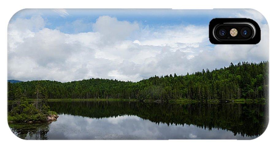 Calm Lake IPhone X Case featuring the photograph Calm Lake - Turbulent Sky by Georgia Mizuleva