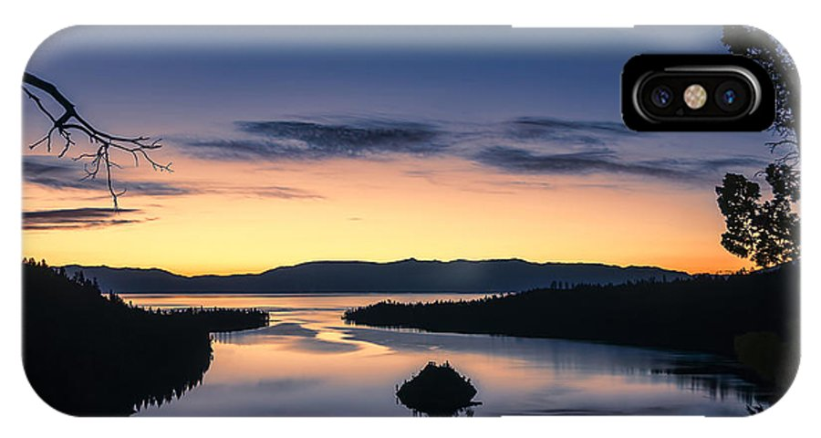 Landscape IPhone X Case featuring the photograph Calm Morning by Maria Coulson