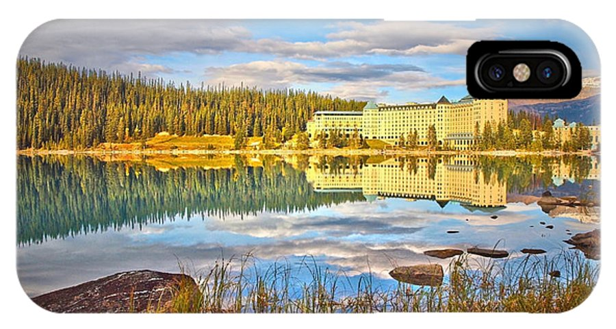 Lake Louise IPhone X Case featuring the photograph Calm Waters by Tara Turner