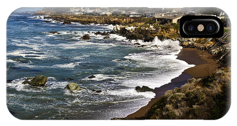 Cambria IPhone X Case featuring the photograph Cambria Coastline by Robert Woodward
