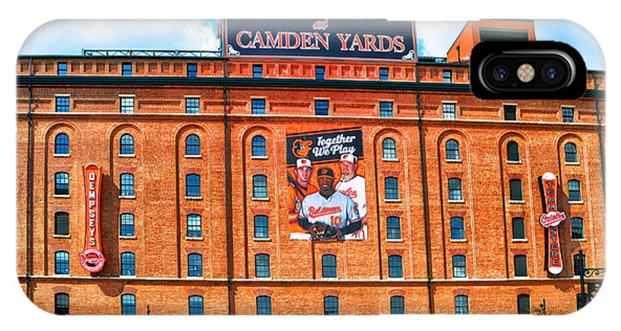 Camden Yards IPhone X Case featuring the photograph Camden Yards by Bill Cannon