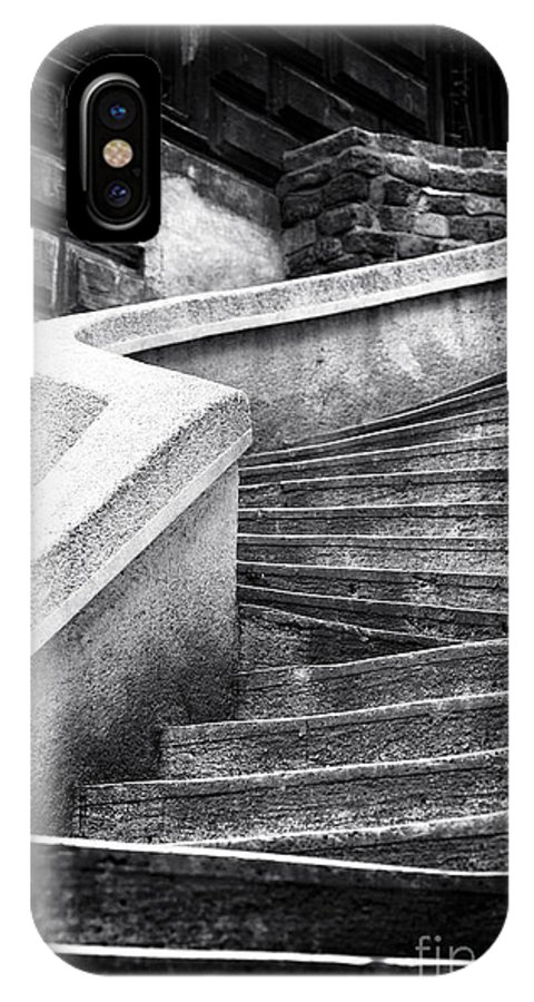 Komando Steps IPhone X Case featuring the photograph Camondo Stairs by John Rizzuto