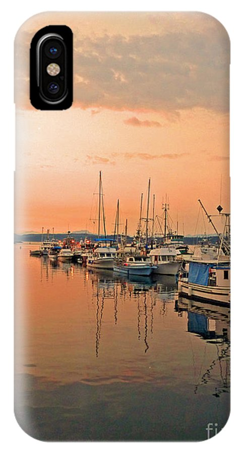 Campbell IPhone X Case featuring the photograph Campbell River Marina by Nancy Harrison