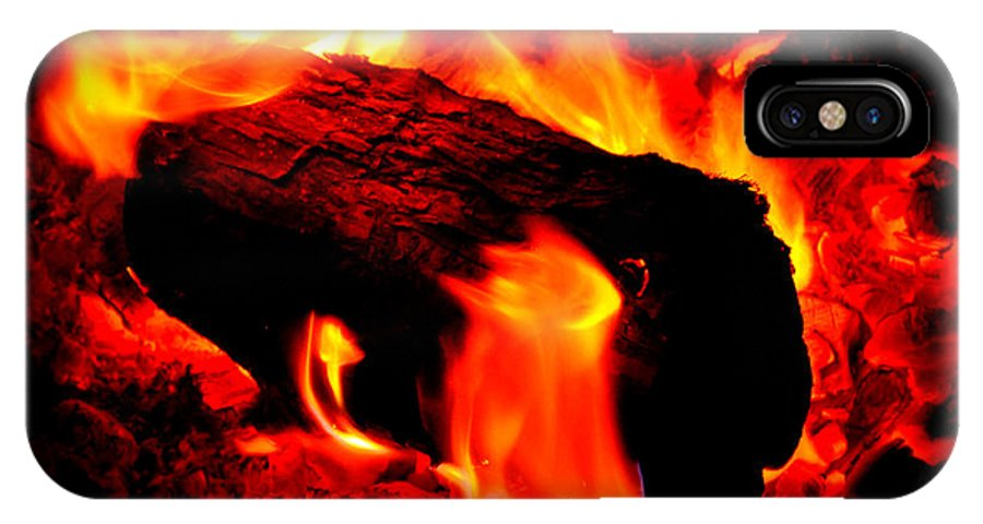 Fire IPhone X Case featuring the photograph Campfire by Holly Storz