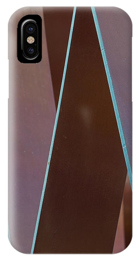 Arizona IPhone X Case featuring the photograph Campus Sculpture by John Carroll