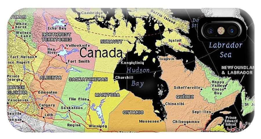 Canada exotic map iphone x case for sale by florene welebny canada iphone x case featuring the mixed media canada exotic map by florene welebny gumiabroncs Choice Image