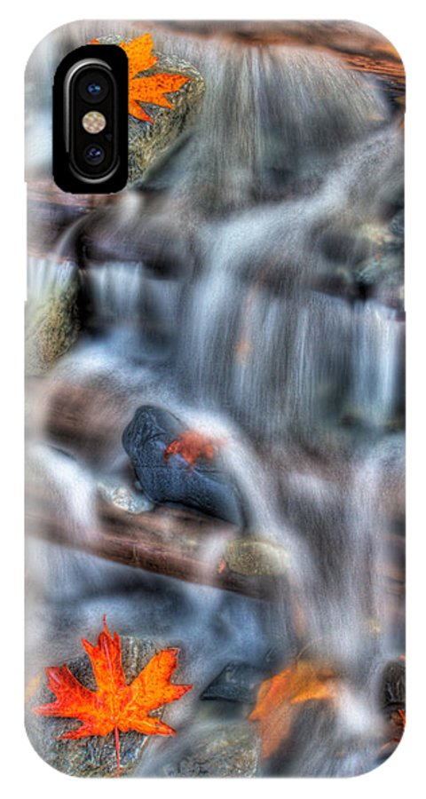 Streams IPhone X Case featuring the photograph Canadian Maple Leafs by Naman Imagery