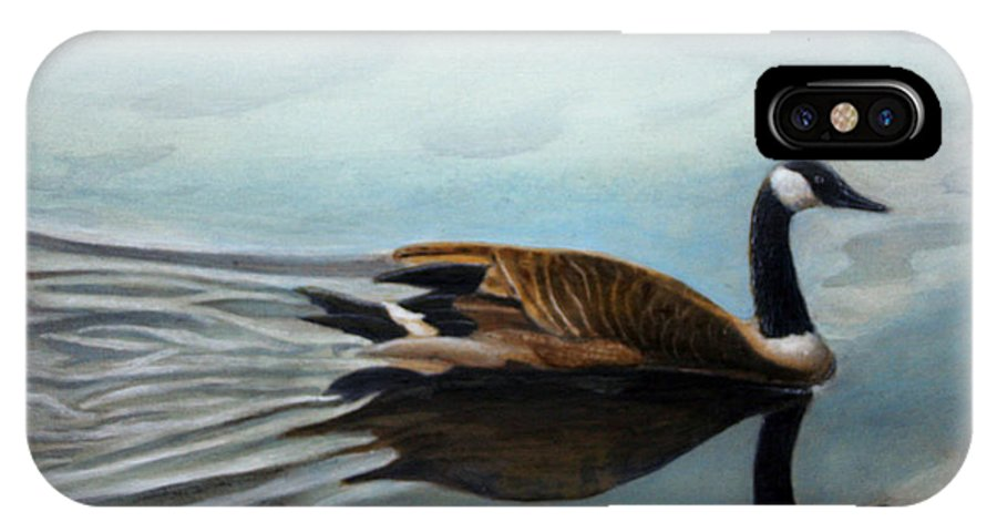 Rick Huotari IPhone Case featuring the painting Canadian On The St. Croix by Rick Huotari