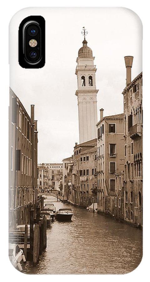 Venice IPhone X Case featuring the photograph Canal Dei Greci by Bishopston Fine Art