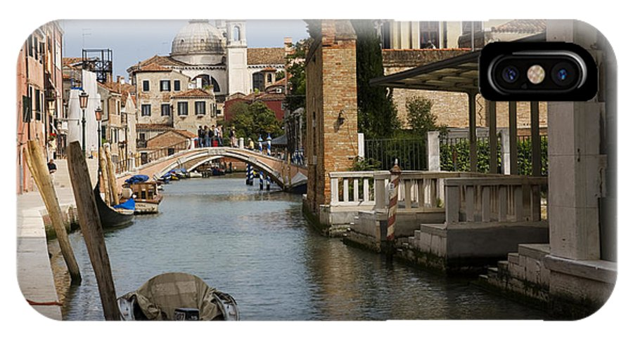 Architectural IPhone X / XS Case featuring the photograph Canal In Venice by David Davis