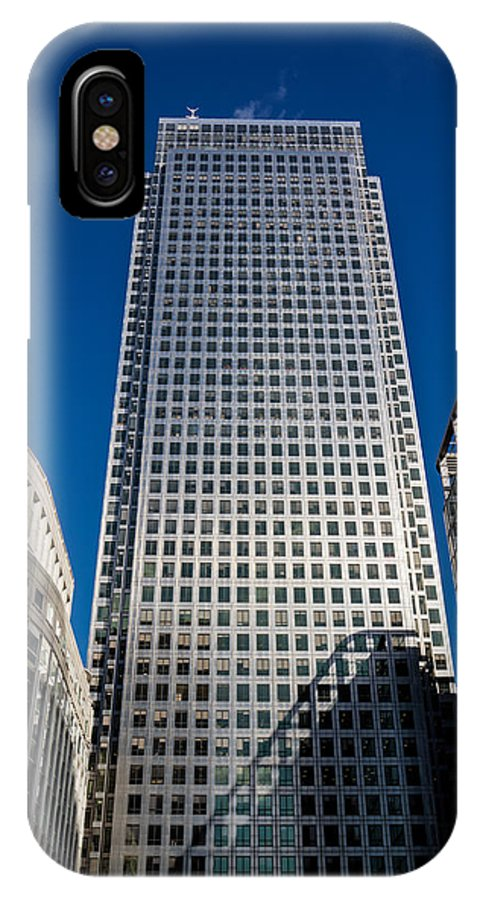 Taxi Taxis IPhone X / XS Case featuring the photograph Canary Wharf Tower London by David Pyatt