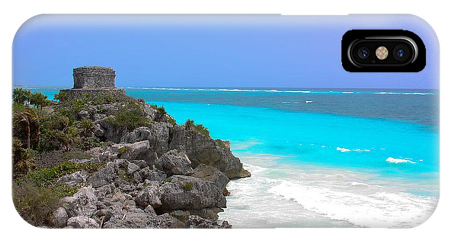 Cancun IPhone X Case featuring the photograph Cancun Ocean Front by Jason Anderson