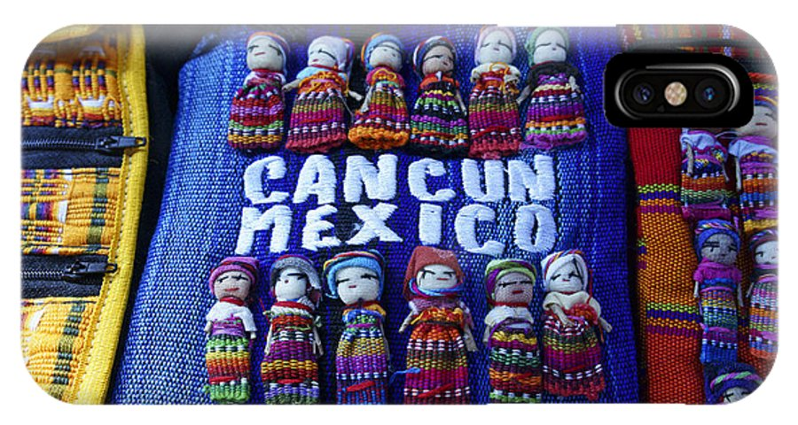 Mexico IPhone X Case featuring the photograph Cancun Souvenirs Mexico by John Mitchell