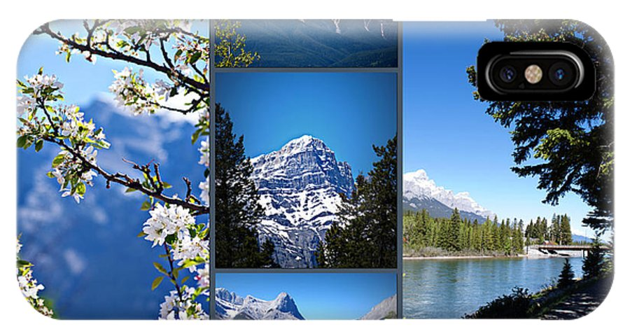 Canmore IPhone X Case featuring the photograph Canmore Alberta by Lisa Knechtel