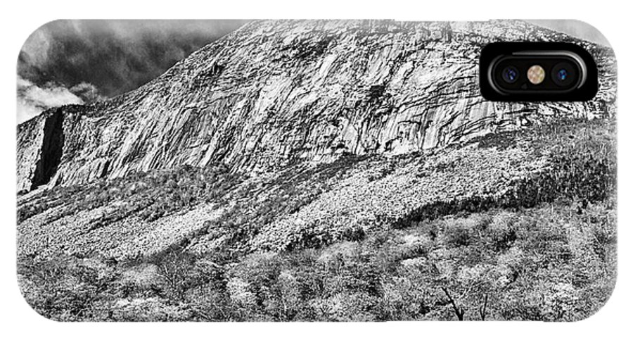 Franconia Notch IPhone X Case featuring the photograph Cannon Cliffs Wind by Shell Ette