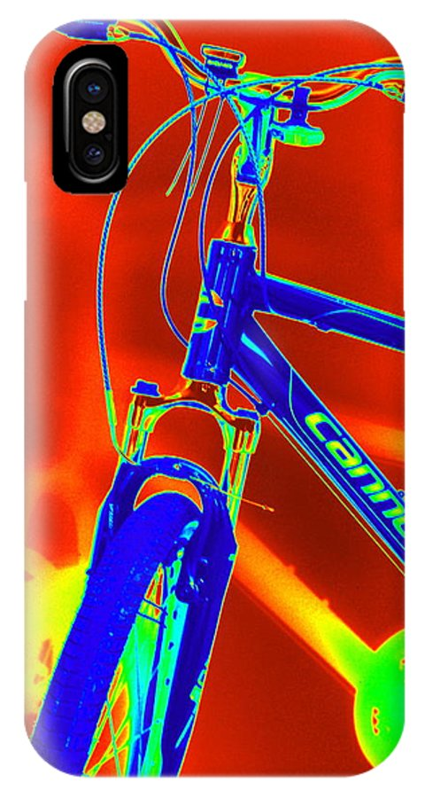 Bike IPhone X Case featuring the photograph Cannondale Ride by Mary Beth Landis