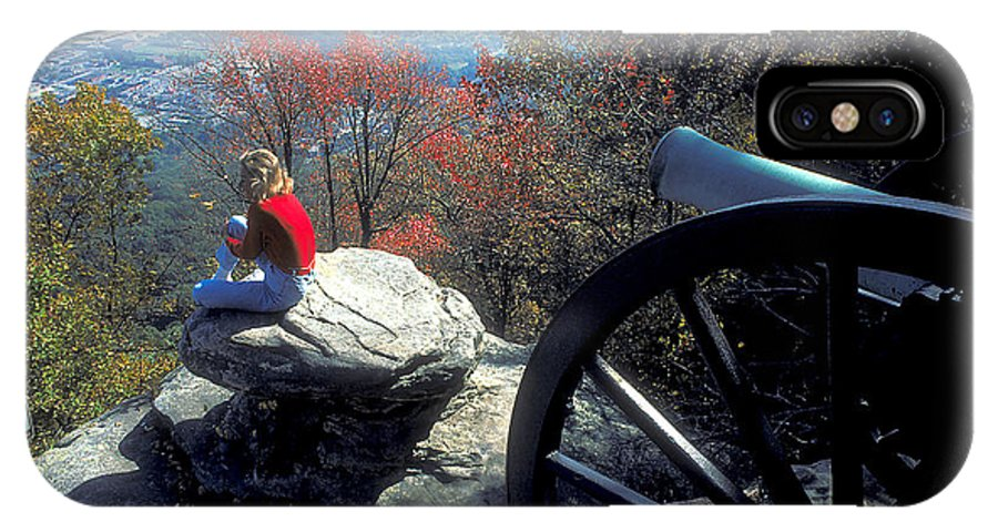 Pretty Woman IPhone X Case featuring the photograph Canon On Lookout Mountain by Carl Purcell