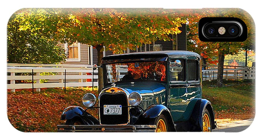 New England IPhone X Case featuring the photograph Canterbury Foliage by Caroline Stella