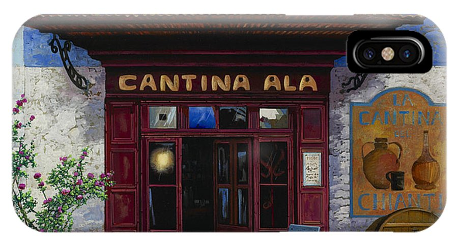 Cantina IPhone X / XS Case featuring the painting cantina Ala by Guido Borelli