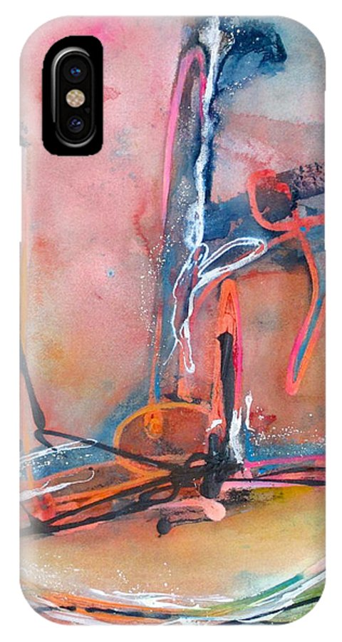 Abstract IPhone X Case featuring the painting Canyon Dance 1 by Barbara McCulloch