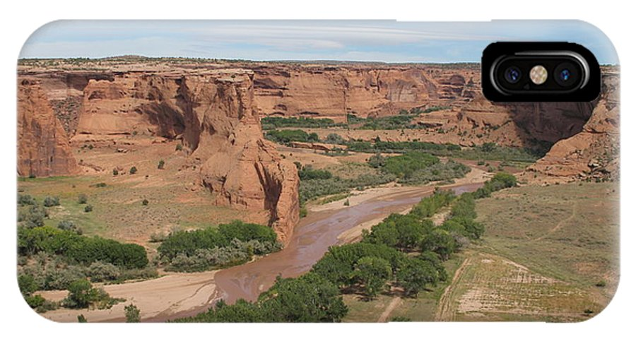Canyon IPhone X Case featuring the photograph Canyon De Chelly Overview by Christiane Schulze Art And Photography