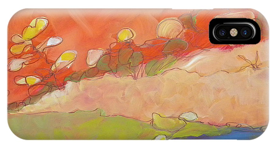 Southwest IPhone X Case featuring the painting Canyon Dreams 22 by Pam Van Londen