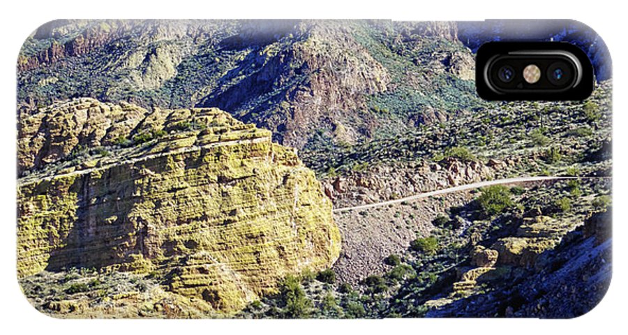Apache Trail IPhone X Case featuring the photograph Canyon Road by Phill Doherty