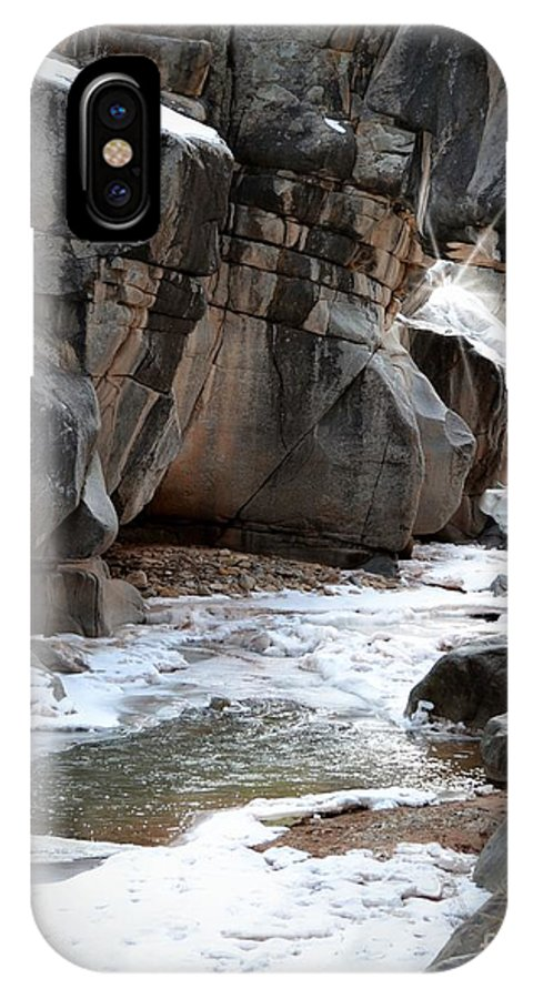 Canyon IPhone X Case featuring the photograph Canyon by Sarah Crawford