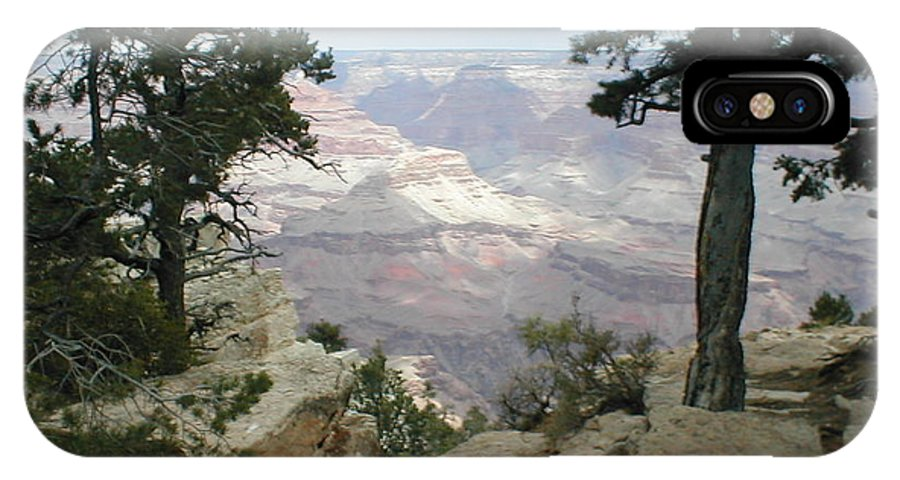 Beautiful IPhone X Case featuring the photograph Canyon Side View by Minnie Davis