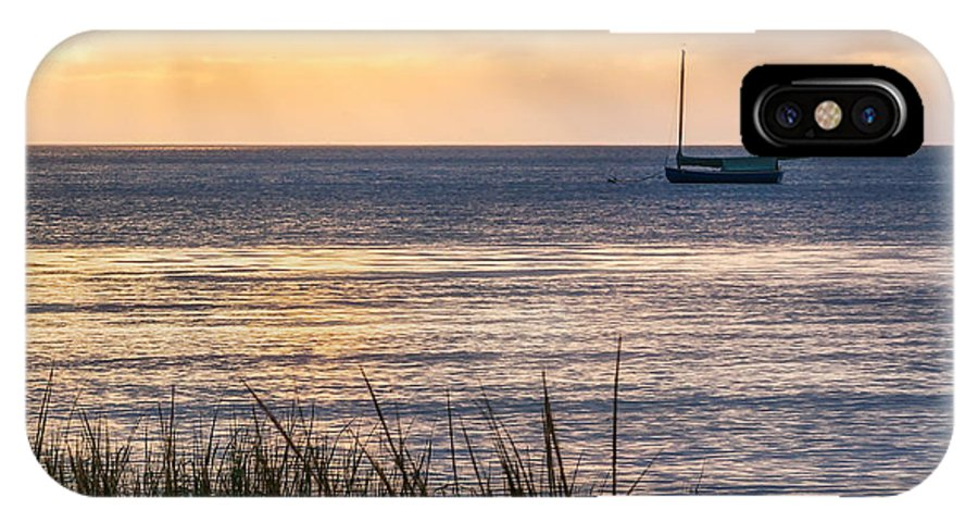 Cape Cod IPhone X Case featuring the photograph Cape Cod Bay Square by Bill Wakeley
