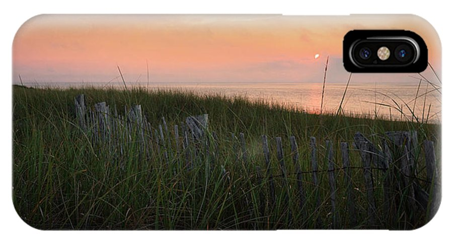 Cape Cod IPhone X Case featuring the photograph Cape Cod Bay Sunset by Bill Wakeley