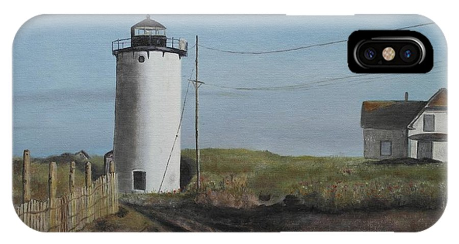 Cape Cod IPhone X Case featuring the painting Cape Cod by Genevieve Bascetta
